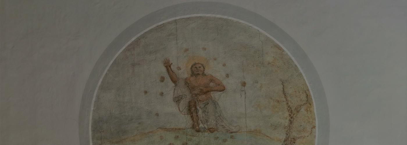 Fresko des Heiligen Stephanus